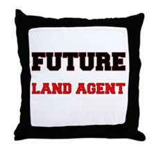 Future Land Agent Throw Pillow