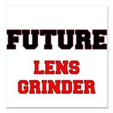 "Future Lens Grinder Square Car Magnet 3"" x 3"""
