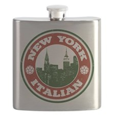 New York Italian American Flask