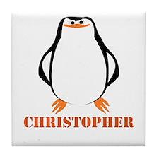 Large Penguin Just Add Name Tile Coaster