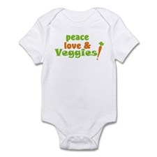 Peace, Love and Veggies Infant Bodysuit