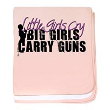 Big Girls Carry Guns baby blanket