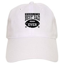 World's Best Dad Ever Football Baseball Cap