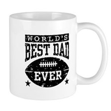 World's Best Dad Ever Football Mug