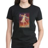 """Let There Be Light"" Women's Black T-Shirt"
