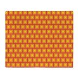 Golden tiles pattern Throw Blanket