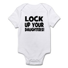 Lock Up Your Daughters! Black Infant Bodysuit