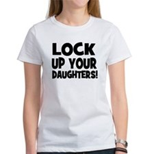 Lock Up Your Daughters! Black Tee