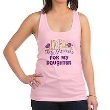 Daughter Cystic Fibrosis Hope Racerback Tank Top