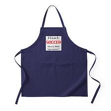 i coach soccer Apron (dark)