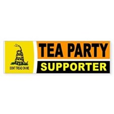 TEA PARTY BUMPER STICKER Bumper Bumper Sticker