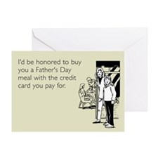 Credit Card Meal Greeting Card