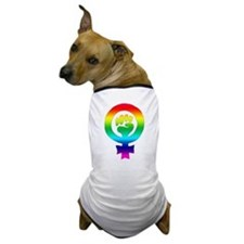 Rainbow Feminist Dog T-Shirt
