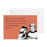Independant Woman Greeting Card