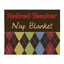 Retired Teacher Nap Blanket Throw Blanket