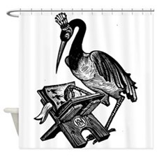 Reading Stork Shower Curtain