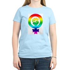 Rainbow Feminist Women's T-Shirt