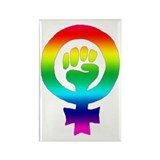 Rainbow Feminist Rectangle Magnet (10 pack)