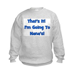 Going To Nana's! Blue Kids Sweatshirt