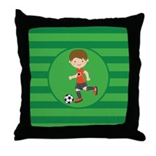 Soccer Boy Throw Pillow