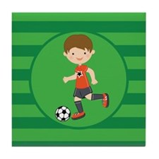 Soccer Boy Tile Coaster