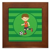 Soccer Boy Framed Tile