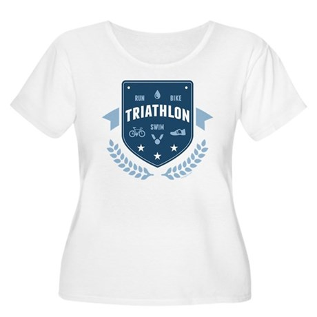 Triathlon Women's Plus Size Scoop Neck T-Shirt