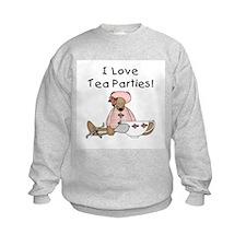 I Love Tea Parties Sweatshirt