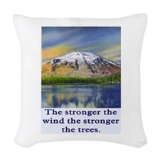 STRONGER THE TREES.. Woven Throw Pillow
