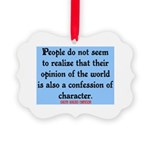 EMERSON - CHARACTOR QUOTE Picture Ornament