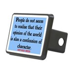 EMERSON - CHARACTOR QUOTE Rectangular Hitch Cover