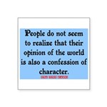 EMERSON - CHARACTOR QUOTE Square Sticker 3