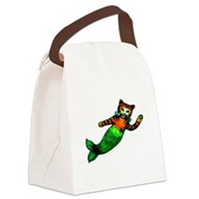 MERMAID KITTY Canvas Lunch Bag