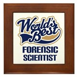 World's Best Forensic Scientist Framed Tile