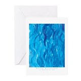 Water Waveforms Greeting Cards (6)