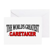 """The World's Greatest Caretaker"" Greeting Cards (P"