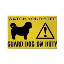 Shih Tzu Guard Dog Warning Rectangle Magnet