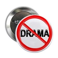 "NO DRAMA 2.25"" Button (100 pack)"