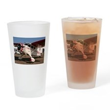 Stinson Aircraft (red & white) Drinking Glass