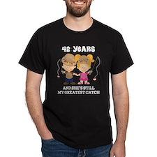 42nd Anniversary Mens Fishing T-Shirt
