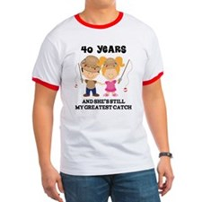 40th Anniversary Mens Fishing T