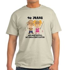 40th Anniversary Mens Fishing T-Shirt