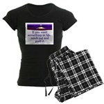 REACH OUT AND GRAB IT.. Women's Dark Pajamas
