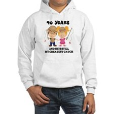 40th Anniversary Hes Greatest Catch Hoodie