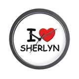 I love Sherlyn Wall Clock