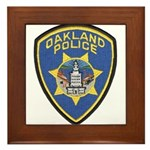 Oakland Police Framed Tile