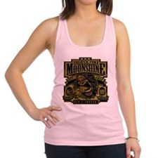 Squatch Puke Hillbilly Moonshine Racerback Tank To