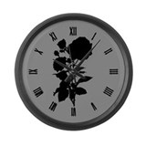 rose-silhouette_cl.png Large Wall Clock