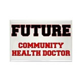 Future Community Health Doctor Rectangle Magnet
