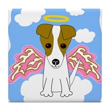 Jack Russell Angel Tile Coaster